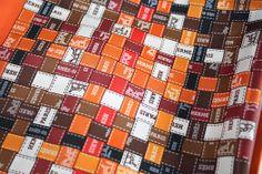 Hermes Bolduc au Carre, 90cm Silk Scarf by Cathy Latham in Orange. Pic4