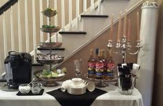 Beautiful coffee bar- great for showers/weddings