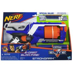 "Nerf N-Strike Elite Strongarm Blaster (Double Your Darts) - Hasbro - Toys ""R"" Us"