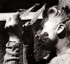 Self-Portrait, photograph by Lola Álvarez Bravo, 1950 by dou_ble_you, via Flickr