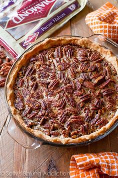 Classic and simple with a dash of cinnamon, melted butter, and vanilla. This is my favorite pecan pie recipe for obvious reasons!