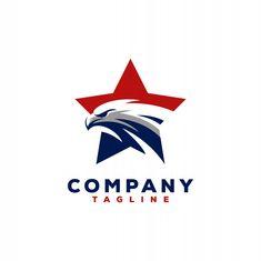 Eagle logo design | Premium Vector #Freepik #vector #background #logo #banner #frame Fitness Logo, Create Avatar, Db Logo, Security Logo, Room Partition Designs, Lion Logo, Bird Logos, Eagle Logo, Banners
