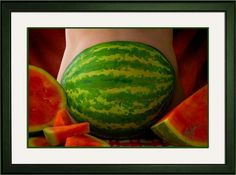 Sport this WATERMELON belly painting to your Fourth of July BBQ!!!