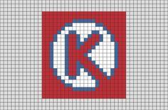Circle K from BrikBook.com #Logo #CircleK #ConvenienceStore #pixel #pixelart #8bit Shop more designs at http://www.brikbook.com