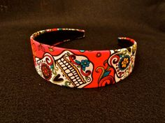 Sugar Skull Fabric Covered Headband by PrimAndGrim on Etsy, $10.00