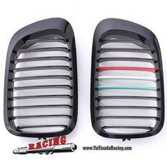 Juego de Parrillas Delanteras Color Negro Brillante para Coche BMW E46 2 Door 98-02 -- 52,24€ Envío gratuito a toda España en todos los productos