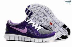 Grey Purple Womens 395912-115 Nike Free Run