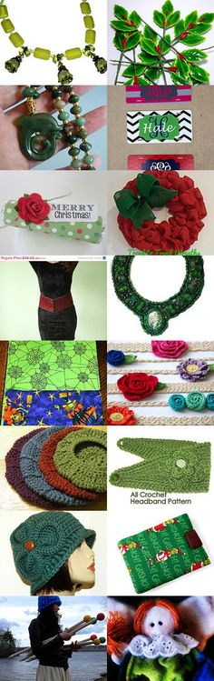 Green Green and more green by Grandma G. on Etsy--Pinned with TreasuryPin.com