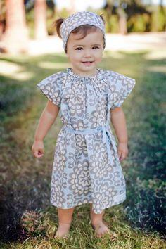 Childrens Dress Angel Dress in Wallflower by crocodilecrunch, $40.00
