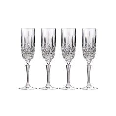 Buy direct from Waterford. The Marquis by Waterford Markham Collection combines traditional-style cutting and quality with value. Markham lends an air of sophistication to any event, with stemware featuring a classic cut pattern design and sculpted stems. Waterford Marquis, Waterford Crystal, Waterford Glasses, Crystal Champagne, Champagne Glasses, Champagne Party, Flute Glasses, Crystal Glassware, Crystal Wine Glasses