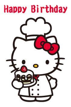 Happy Birthday Celebration, Happy Birthday Images, Hello Kitty Birthday, Cat Birthday, Birthday Wishes Messages, Happy Birthday Wishes, Images Hello Kitty, Hello Kitty Drawing, Hello Kitty Imagenes