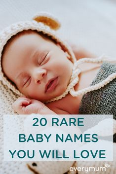 everymum – The Parenting Community Connecting & Celebrating Every Mum – everymum Looking for a baby name as unique and rare as your precious baby? These charming baby names are beautifully different without being too crazy! Rare Baby Girl Names, Vintage Baby Names, Unique Boy Names, Unisex Baby Names, Unique Baby, Celebrity Baby Pictures, Celebrity Baby Names, Celebrity Babies, Celtic Baby Names