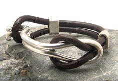 EXPRESS Versand Männer Leder-Armband. Armband aus von eliziatelye