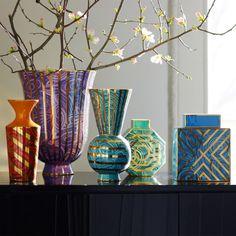 Modern Home Decor, Home Accessories & Luxury Gifts | Malachite Teal Vase | Jonathan Adler