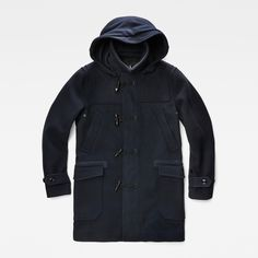 G-Star RAW | Men | Wool | Wool Duffle Coat , Mazarine Blue