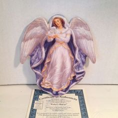 Edgar Jerins Angel Plate Winter's Majesty #2964 Bradford Exchange w/COA 1997