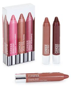 Receive a FREE Gift Box with purchase of 3 Clinique Chubby Sticks - Makeup - Beauty - Macy's