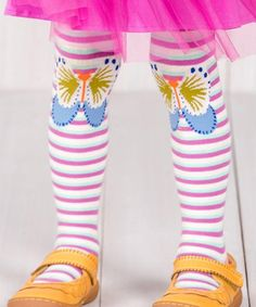 Take a look at this Mint & Magenta Running Free Tights - Infant & Kids today!