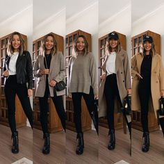 Combat Boot Outfits, Combat Boots Style, Edgy Outfits, Fall Outfits, Fashion Outfits, Outfit Invierno, Professional Outfits, Dress With Boots, Winter Looks