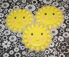 Bring on the Sunshine Cookie (VIDEO TUTORIAL) royal icing, sugar cookies, decorated cookies, sun cookies, sunshine cookies, custom cookies
