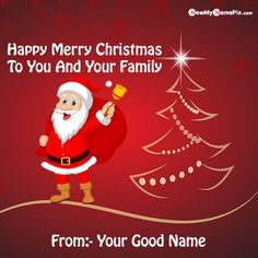 Merry Christmas Wishes And Greeting Cards With Name, Beautiful ornament Photo Happy Christmas Online, Write or Print My/Your Name On Unique Best Wishes Christmas Images, Colorful T. Merry Christmas Family, Merry Christmas Pictures, Merry Christmas Wallpaper, Christmas Names, Christmas Wishes Greetings, Merry Christmas Greetings, Happy Birthday Wishes Photos, Happy New Year Wishes, Christmas Day Celebration