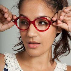 ed69a96c5319 OWL Round Eyeglasses - Vint & York Red Frame Glasses, Red Eyeglasses, Mens  Glasses