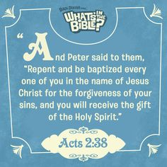 Acts 2:38 | Verse Of The Day from WhatsInTheBible.com