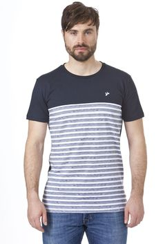 recolution fair trade T-Shirt Männer Timo gestreift