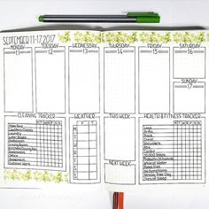 Created two new trackers for this week. I'm aiming to be really productive! Here's to a new start!   #bulletjournaljunkie #bulletjournaljunkies #weeklyplanner #bujoweekly #bulletjournalcommunity #bulletjournal #bulletjournals #bulletjournaling #bujoaddict #bujolayout #bujoinspo #weekly #bujofitness #bujoing