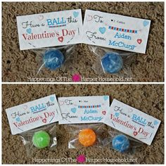 Free Valentine's Day Bouncy Ball Printable