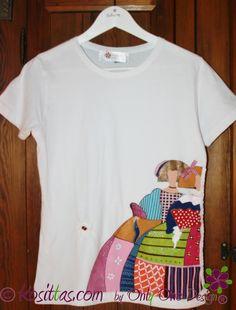 Camisetas pintadas a mano.con dibujos de meninas,buhos vacas, cerdos, gatos....