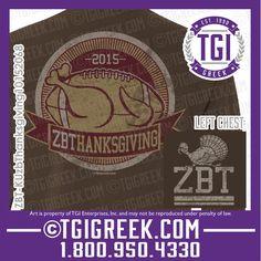 TGI Greek - Zeta Beta Tau - Date Party - Thanksgiving - Comfort Colors - Greek T-shirts #tgigreek #zetabetatau #dateparty