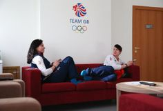 SOCHI, RUSSIA - FEBRUARY 04: Paula Walker and Rebekah Wilson of the Great Britain Bobsleigh team relax in their apartment at the Athletes Village in the Rosa Khutor mountain village cluster prior to the Sochi 2014 Winter Olympics on February 3, 2014 in Sochi, Russia. (Photo by Alex Livesey/Getty Images)