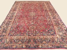 "SAROUK, 12' 3"" x 19' 2"" — Circa 1925 — Price: $12,500, West Central Persian Antique Rug - Claremont Rug Company  Click to learn more about this rug."