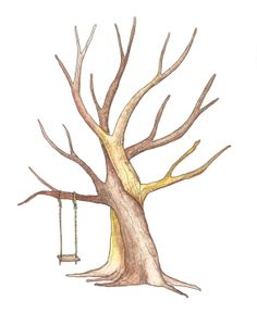 Swing in a thumbprint tree by fourch on Etsy, $0.20