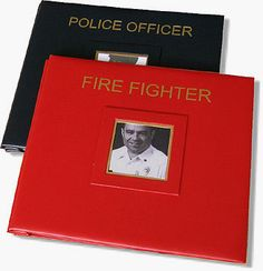 $59 - Police Officer Scrapbook.. Been looking for one to put different newspaper clippings in.
