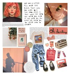"""""""hm, peachy."""" by nadyaarw on Polyvore featuring Levi's, Vans, Rosebud Perfume Co., Fjällräven, Zimmermann, Crosley Radio & Furniture, PINTRILL, Chapstick and Too Faced Cosmetics"""