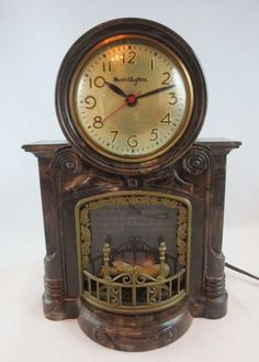mastercrafters fireplace clock | Mastercrafters Vintage Clocks ...