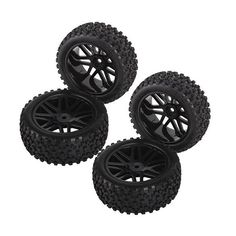 4Pcs RC 1:10 Racing Car On Road Climbing Tires Slip-resistant Wheel Rim & Drift Tyre Tire 1/10 Scale Off-road Vehicles Y FJ88 #Affiliate