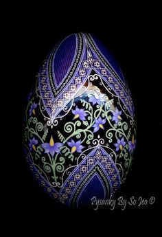 Nightshade - Solanum dulcamara Ukrainian Easter Egg Pysanky By So Jeo