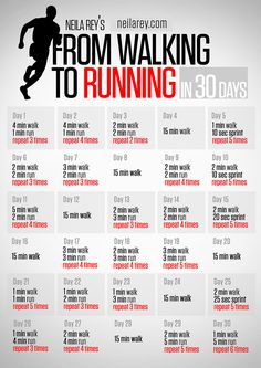 From Walking to Running in 30 days - Se ve bastante gradual para una RE begginer como yo :)