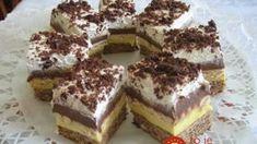 Keksztorta 5 hozzávalóból – amilyen hamar összedobható, olyan hamar el is fogy! Hungarian Desserts, Hungarian Recipes, My Recipes, Cookie Recipes, Dessert Recipes, Cake Bars, Food Cakes, Sweet And Salty, Sweet Desserts