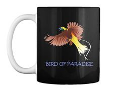 Bird Of Paradise Black T-Shirt Front