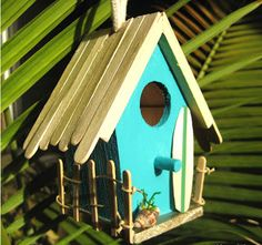 Recycle Reuse Renew Mother Earth Projects - popsicle stick bird house