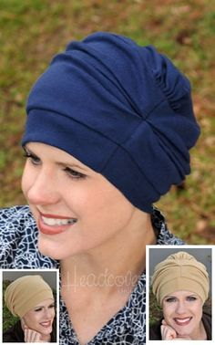 13bf3f8257d 100% Cotton Trinity Turbans - 3 Way Headcovering. Head Wrap ScarfScarf  HatChemo BeaniesHats For Cancer ...