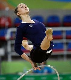 Kopf hoch: Die Finnin Ekaterina Volkova bereitet sich auf die Wettkämpfe in...