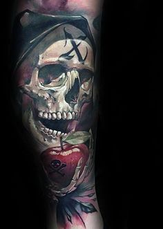 2017 trend Tattoo Trends - 75 Apple Tattoo Designs For Men...