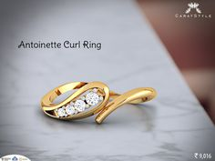 Happiness is when….antoinette curl ring on your finger! #diamondring #ring #diamondring #goldring #ringforgirls #ringforwomen #fashion