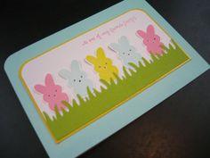 Peeps Card Easter Card Easter Peeps Card by apaperaffaire on Etsy, $2.75
