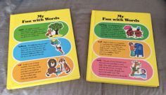 Vintage My Fun with Words 2 book dictionary set https://www.etsy.com/shop/AmeliaBabble